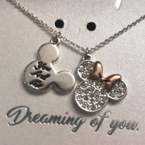 DISNEY MINNIE YOU AND ME DREAMING OF YOU NECKLACE